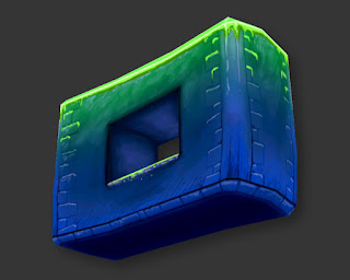 cool stylized wall made in 3ds max with custom textures and geometry