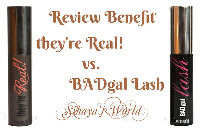 benefit they're real vs benefit badgal lash