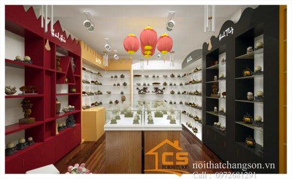 Thiết kế shop đá phong thuỷ Anh Long beach 42 Ngô Thị Nhậm