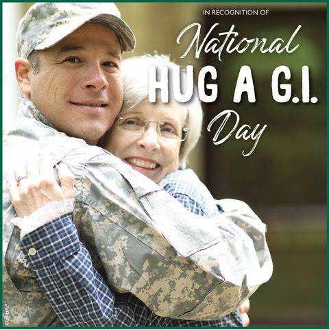 National Hug a G.I. Day Wishes Beautiful Image