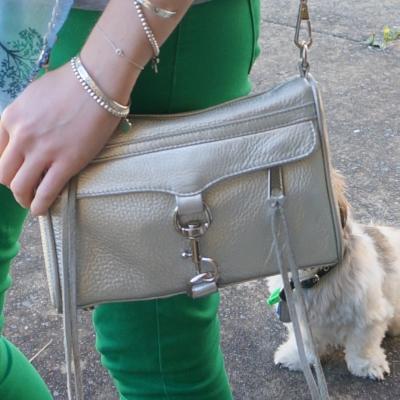 Rebecca Minkoff metallic silver mini MAC | awayfromtheblue