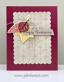 Stampin' Up! Gorgeous Leaves Bundle ~ July-December 2021 Mini Catalog ~ www.juliedavison.com #stampinup