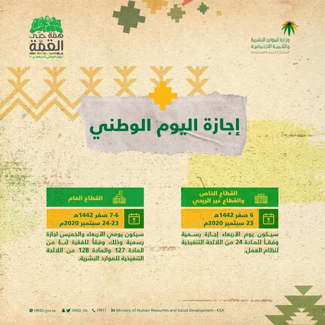 Saudi Arabia announces holidays for Private and Public sector on 90th Saudi National Day - Saudi-Expatriates.com