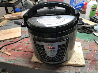 One Pressure Cooker Ready for Inspection