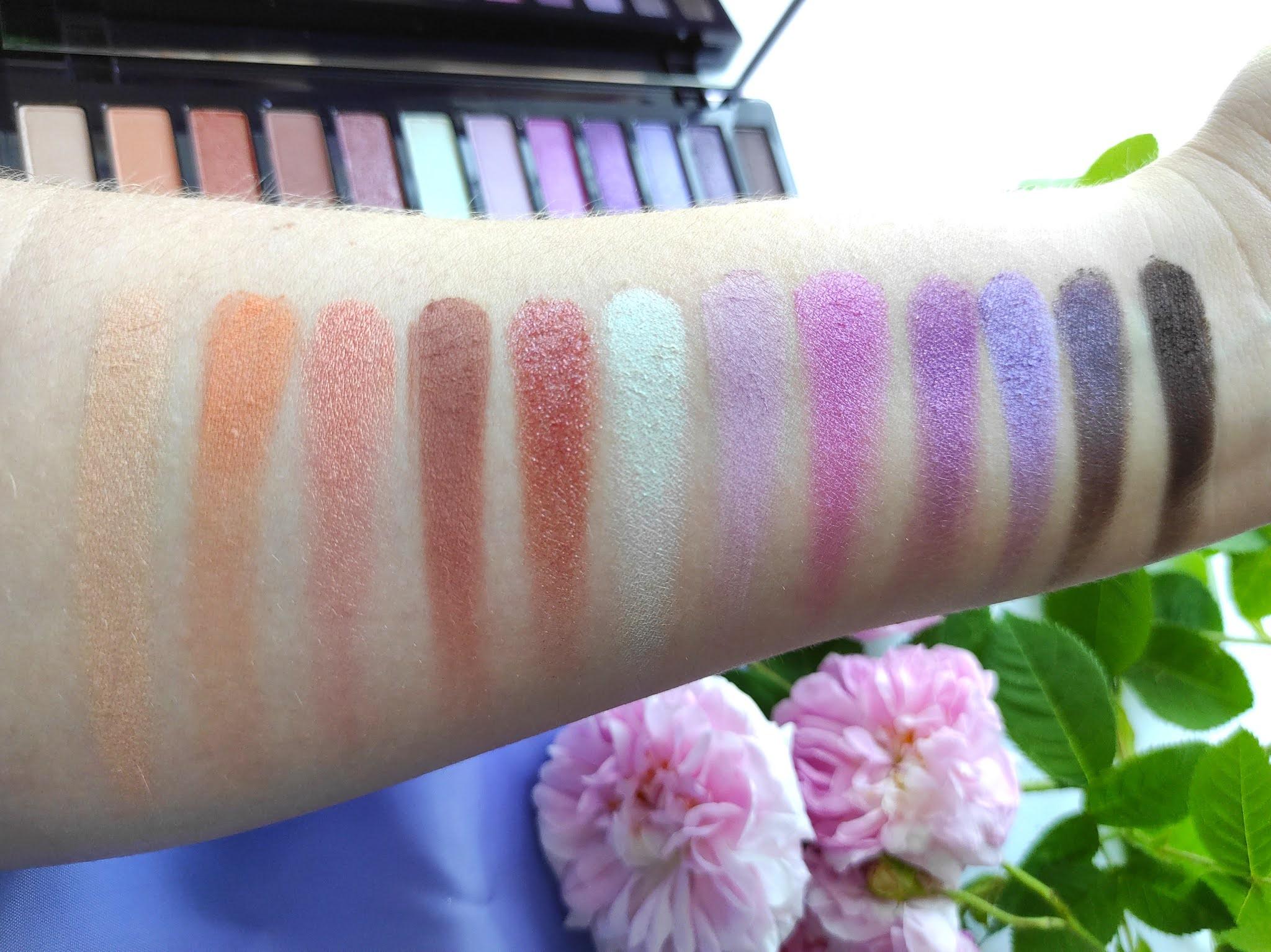 Kolory palety Naked Ultraviolet