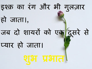 romantic good morning quotes in hindi for wife