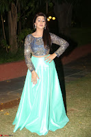Nikki Galrani in Green Skirt  Top at Marakathamani music launch ~  Exclusive (121).JPG