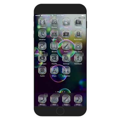 Ice Apple iOS 9 is redefined theme which more than 940 awesome icons with unique style, dock, badges, UI, magic dots and amazing anemone effects.