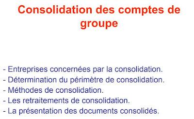 Consolidation des comptes de groupe