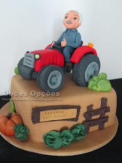 bolo aniversário parabens trator