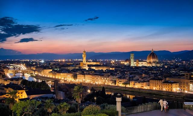 Vista da cidade de Florença em Toscana na Itália