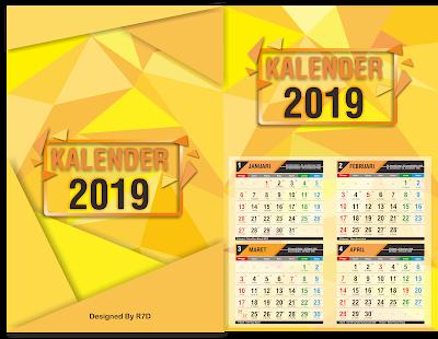 Download Master Kalender 2019 Lengkap Hijriah dan Jawa Vector Cdr