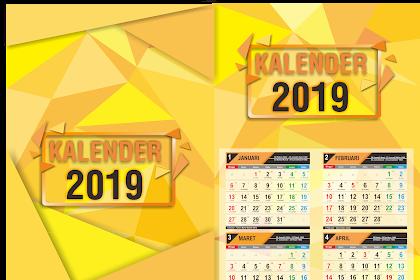 Download Kalender 2019 Lengkap Hijriah dan Jawa (Vector Cdr)