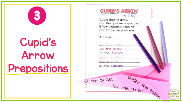 In search of ELA Valentine's Day Activities for Upper Elementary students? Try this Valentine's Day Prepositions Graamar Activity.