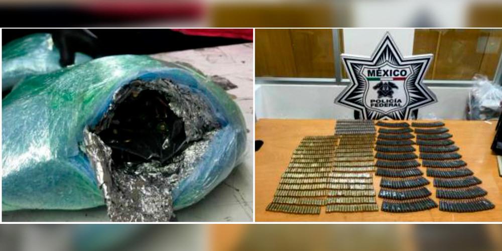 Federales incautan balas con destino a Aguililla en el Aeropuerto de la CDMX