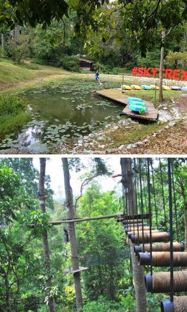 Skytrex Adventure Shah Alam pelbagai trek disediakan