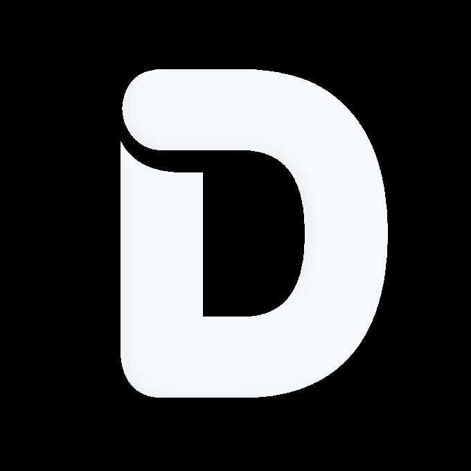 Letter Alphabet D White