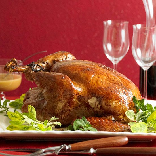 Christmas dinner idea - Apple Cider-Ginger Brined Turkey with recipe link