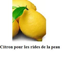 citron pour les rides de la peau