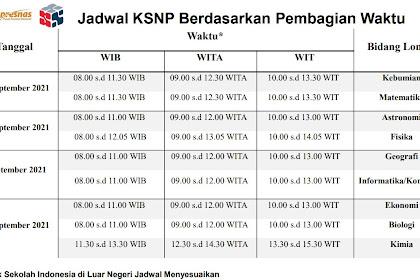 Jadwal KSN-P Tahun 2021