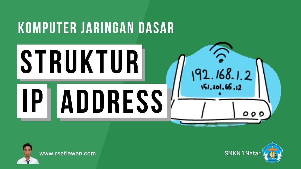 Memahami Struktur IP address, Subnetmask, Network, Host,dan Broadcast
