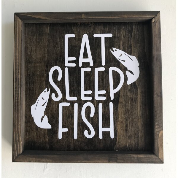 Eat Sleep Fish Wall Decor