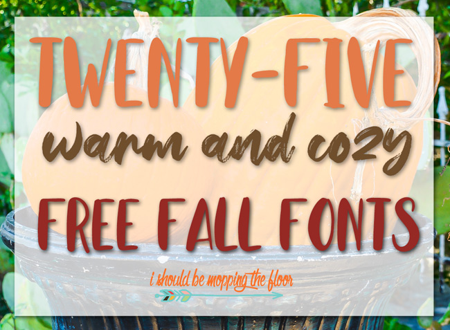 Favorite Free Fall Fonts