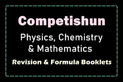[PDF] Competishun Formula & Quick Revision Booklet for JEE Main 2021 | Free Download