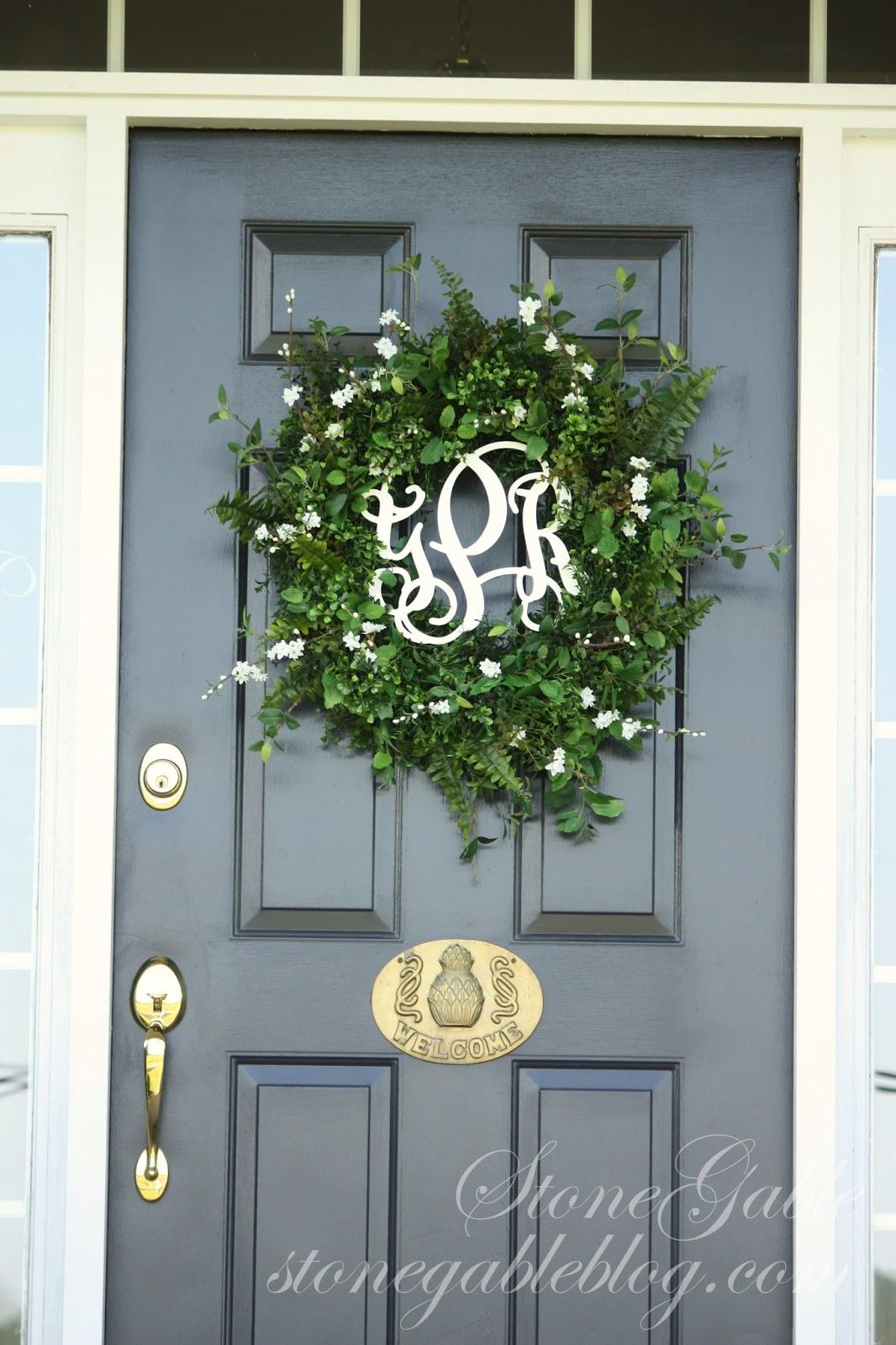 StoneGable: FRONT DOOR WREATH~ SUMMER 2013