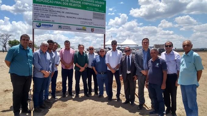 """'FIM DOS LIXÕES"""": Juripiranga inicia obra de unidade de gerenciamento integrado de resíduos."""