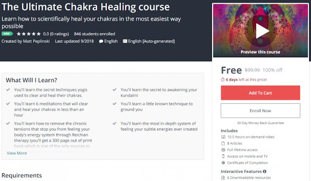 [100% Off] The Ultimate Chakra Healing course| Worth 99,99$