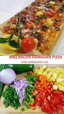 BBQ bacon Hawaiian pizza