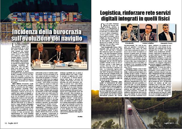 LUGLIO 2019 PAG. 13 - Logistica, rinforzare rete servizi digitali integrati in quelli fisici