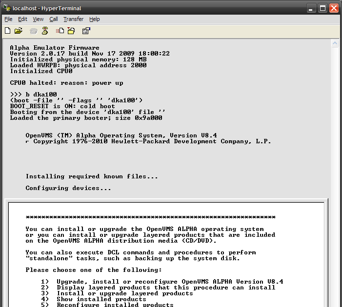 Open Source Software and Windows 32-bit: How To Try OpenVMS under