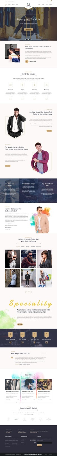 Tailoring and Fashion HTML Template