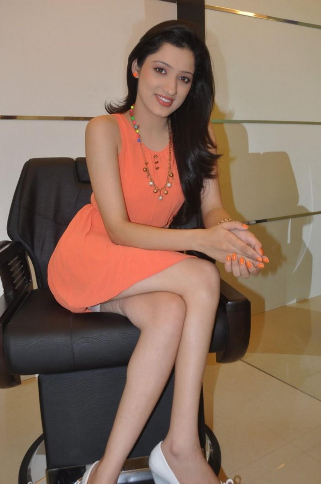Richa Panai Hot Panty Show Photos At Naturals Salon Launch