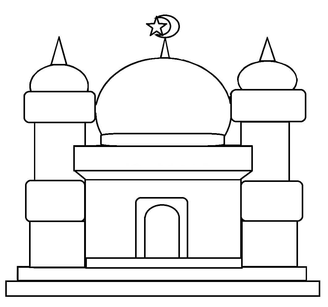 Kumpulan Gambar Mewarnai Masjid Untuk Anak PAUD Dan TK Islami Anak