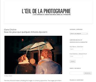 L'Oeil de la photographie : http://www.loeildelaphotographie.com/2013/11/clara-chichin/