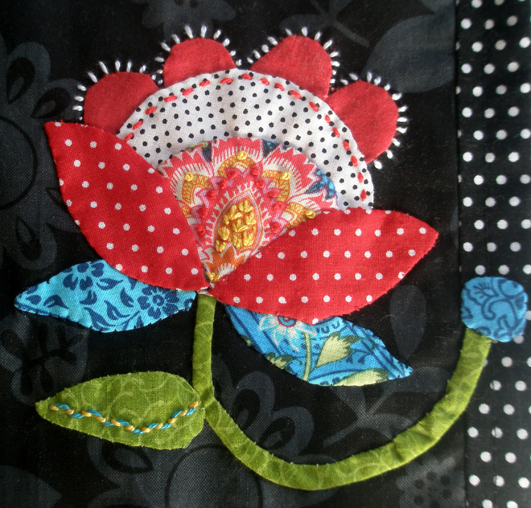 Applique Fiberluscious Hand Applique Beautiful And Bold