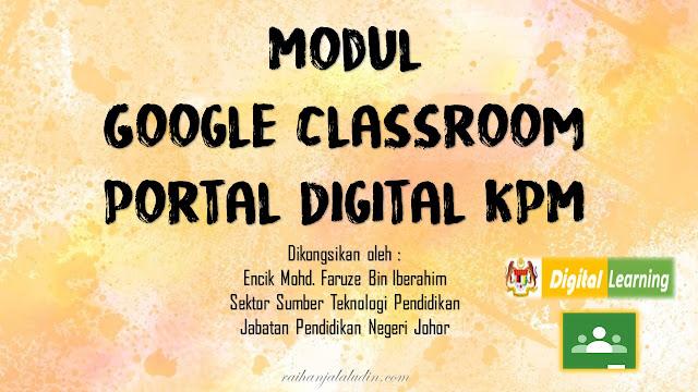 Modul Google Classroom Portal Digital KPM