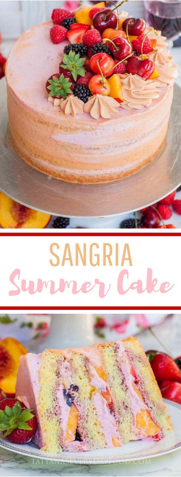 Summer Sangria Cake #desserts #cakerecipe
