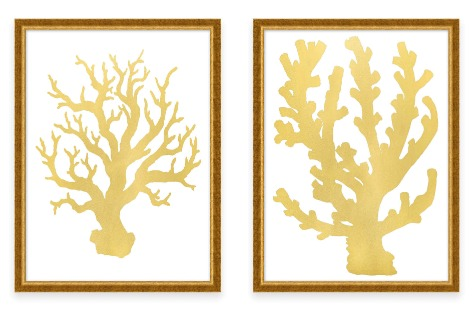 Gold Coral Art