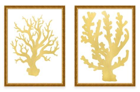 Gold And Silver Coastal Home Decor Accessories Coastal