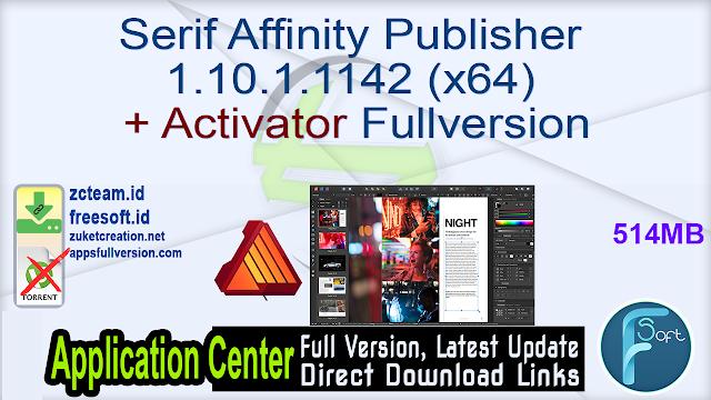 Serif Affinity Publisher 1.10.1.1142 (x64) + Activator Fullversion