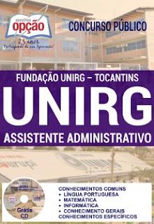 Apostila Fundação UnirG - Assistente Administrativo 2016.