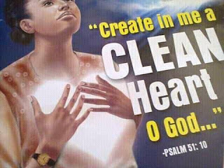 God create me a clean heart