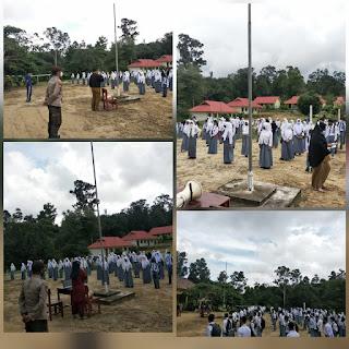 Kapolsubsektor Penuba Polsek Daik Lingga bersama Puskesmas Penuba lakukan Sosialisasi di SMA N 1 kecamatan Selayar