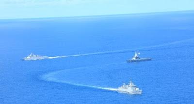 Angkatan Laut Indonesia dan Singapura Latihan Perang di Laut Natuna