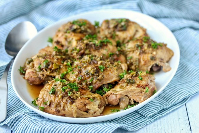 Crock Pot Chicken Marbella