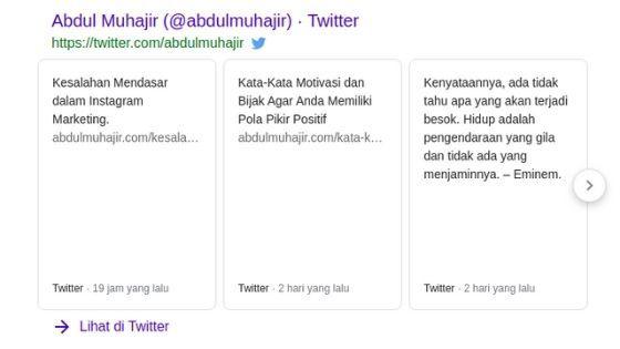 tweet dari abdulmuhajir.com